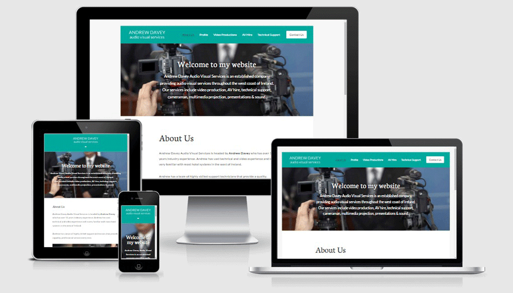 Davey AV - mobile responsive website designed by Pagecrafted