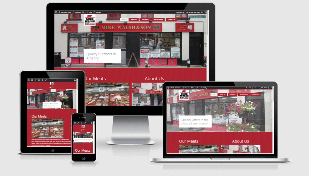 Mike Walsh & Son - a mobile responsive website designed by Pagecrafted