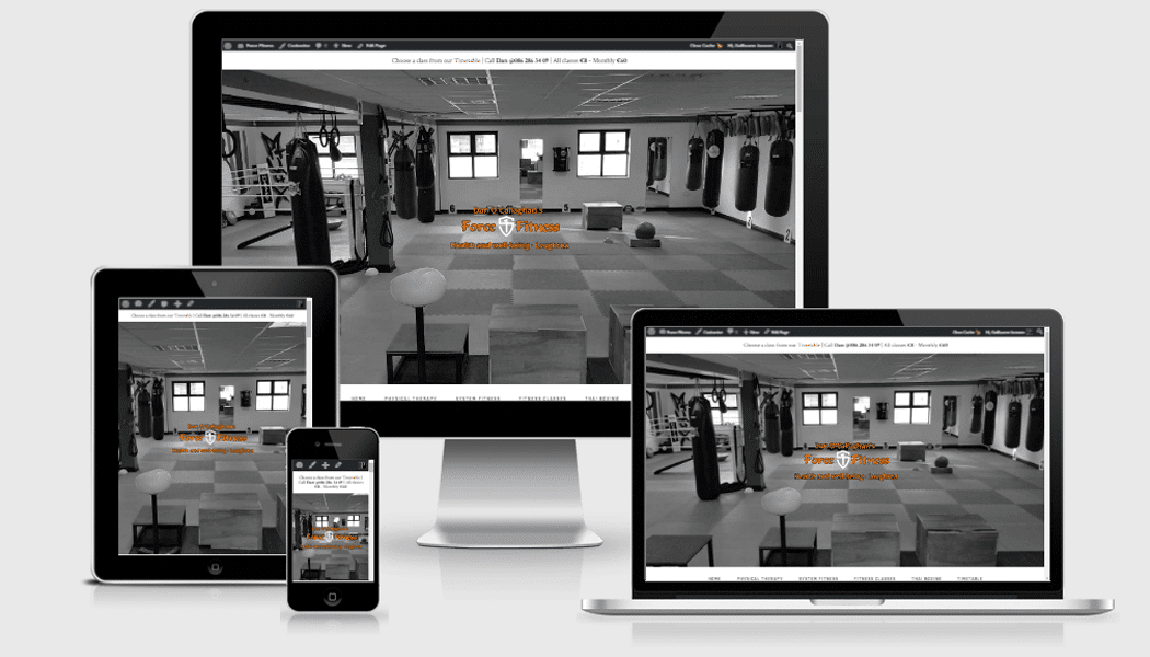 Force Fitness - a mobile responsive website designed by Pagecrafted