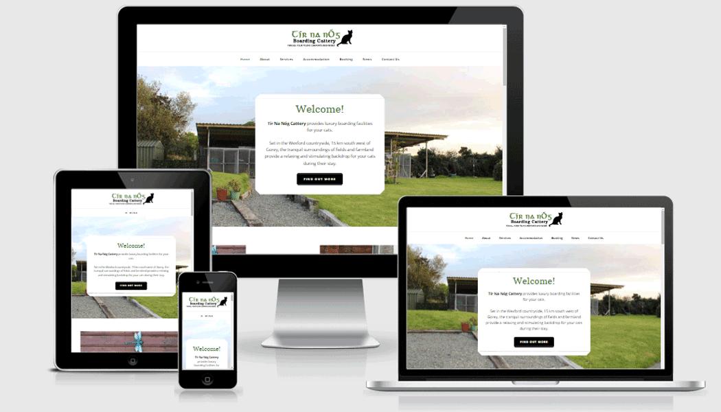 Tír na Nóg - a mobile responsive website designed by Pagecrafted