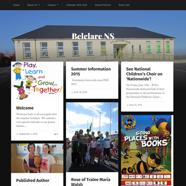 Belclare.ie Homepage - website designed by Pagecrafted