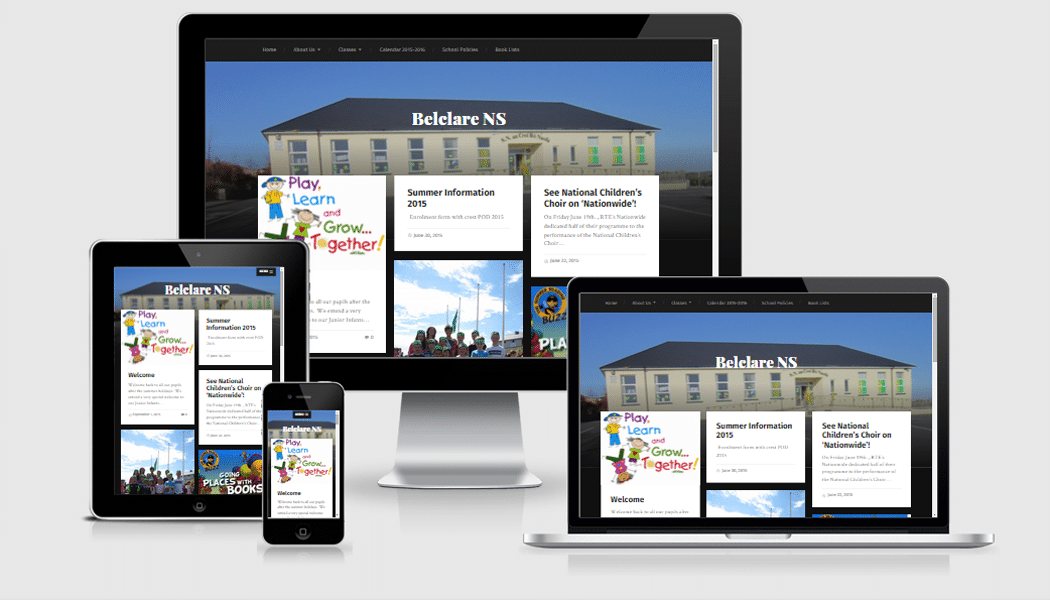 Belclare.ie - Mobile responsive website designed by Pagecrafted