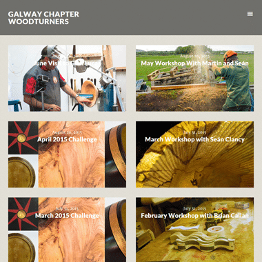 Galway Woodturners Homepage - website designed by Pagecrafted
