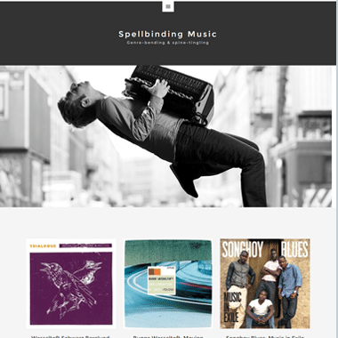 Spellbindingmusic Homepage - website designed by Pagecrafted