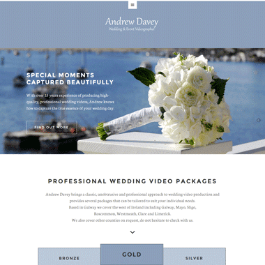 Wedding DVD by Andrew Davey Homepage - Affordable website designed by Pagecrafted