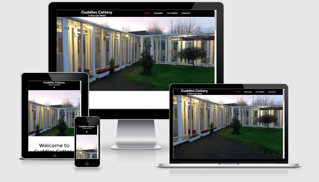 Cuddlescattery.ie - Mobile responsive website designed by Pagecrafted