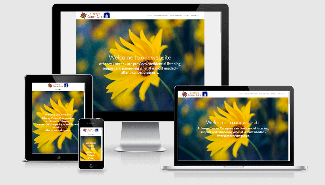 Athenry Cancer Care - A mobile-responsive website designed by Pagecrafted