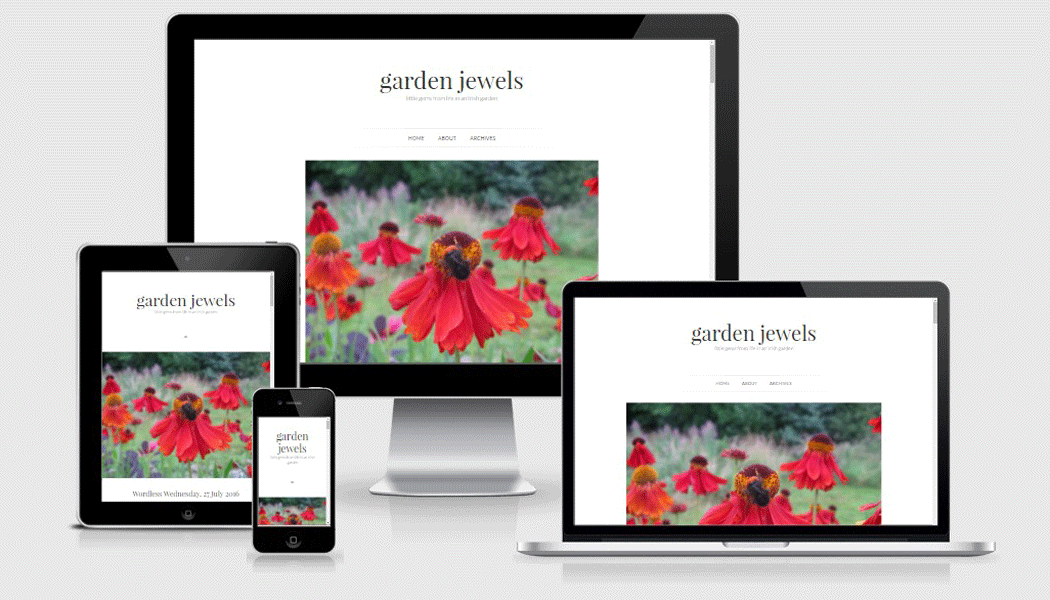 Garden Jewels - a mobile responsive website designed by Pagecrafted