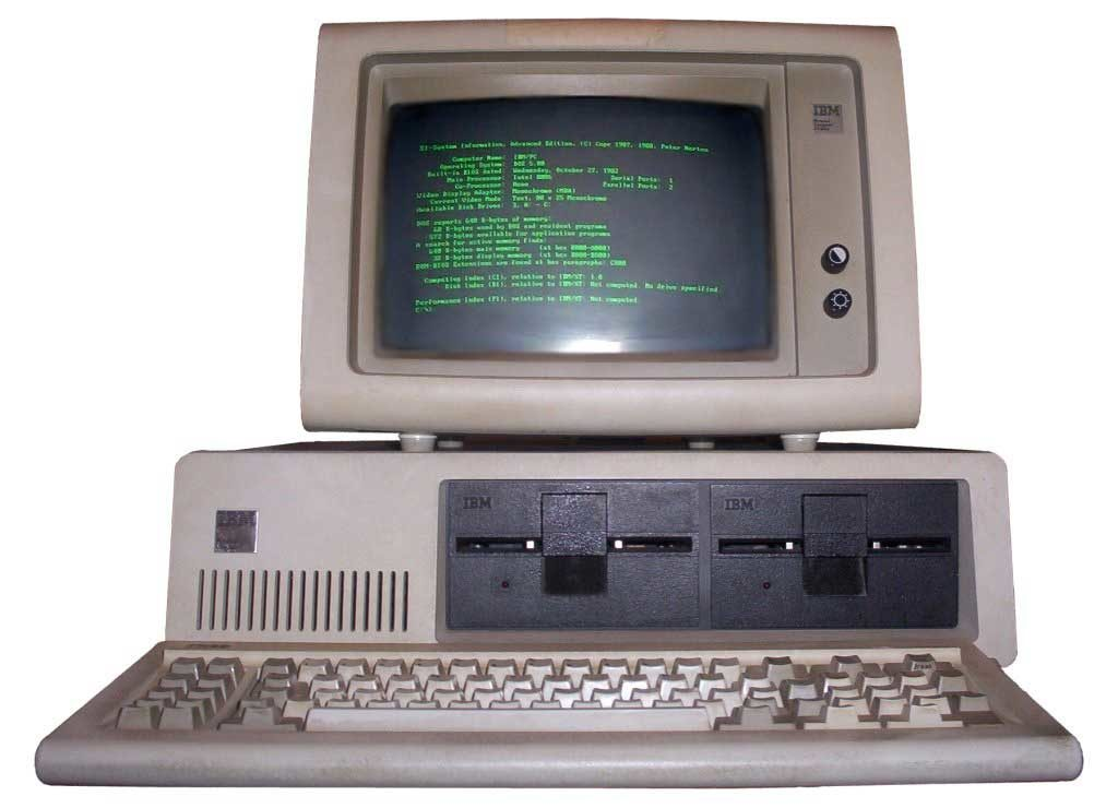 IBM PC Model 5150 (1981) - CC Wikimedia Commons