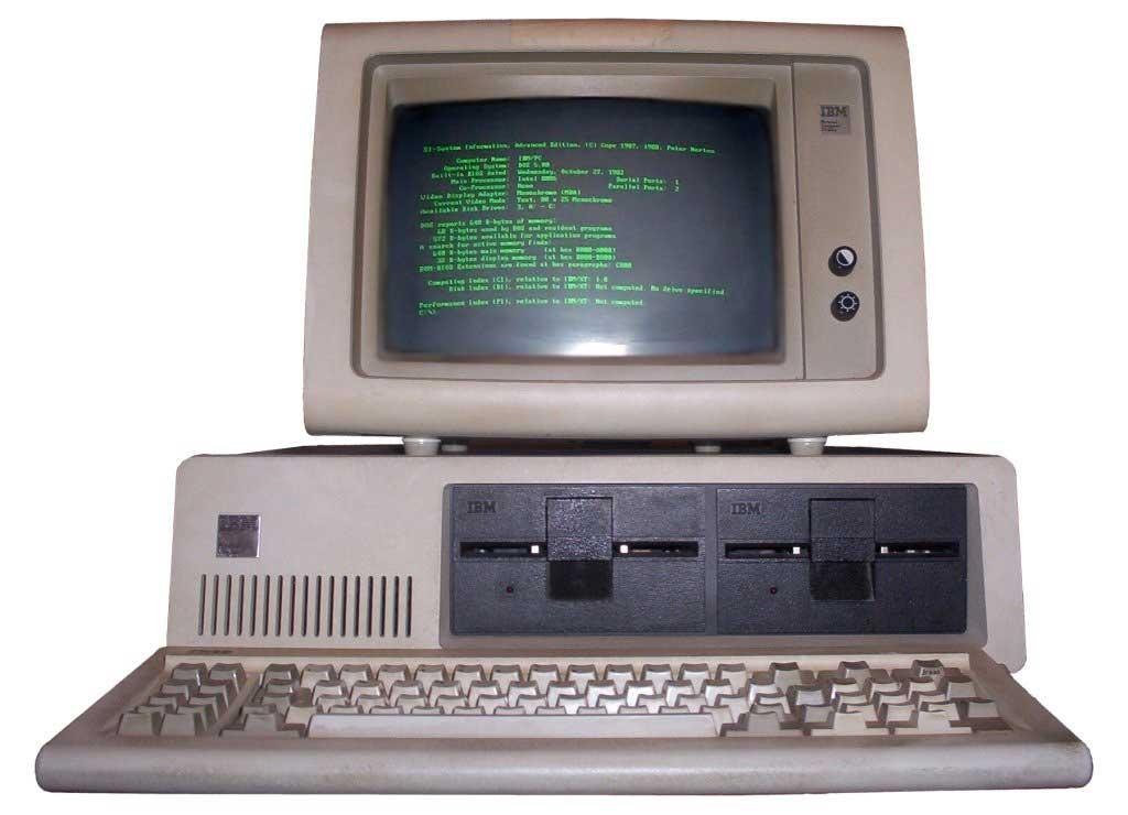 IBM PC Model 5150 (1981) - CC Wikimedia Commons