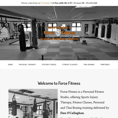 Force Fitness Loughrea - a mobile responsive website designed by Pagecrafted