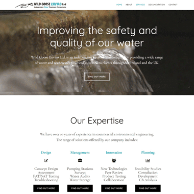 Wild Goose Enviro Ltd. - a mobile responsive website designed by Pagecrafted