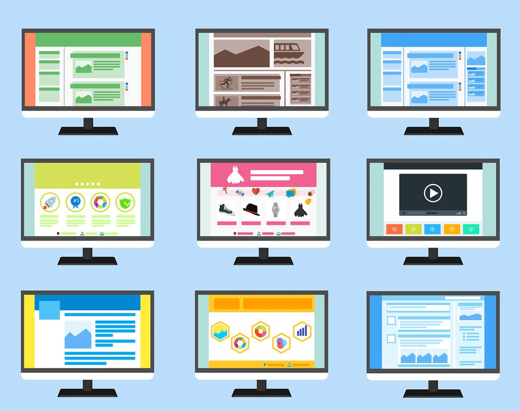công ty thiết kế web hà nội: họ có rất nhiều layout để lựa chọn