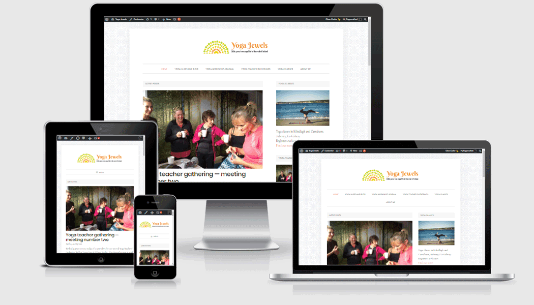 Yoga Jewels - A new mobile-responsive website by Pagecrafted