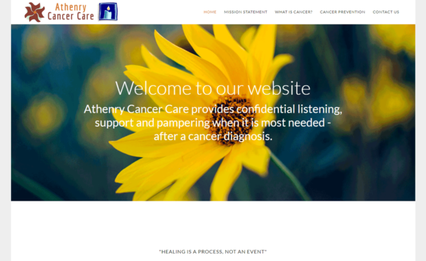 Athenry Cancer Care Homepage - Designed by Pagecrafted