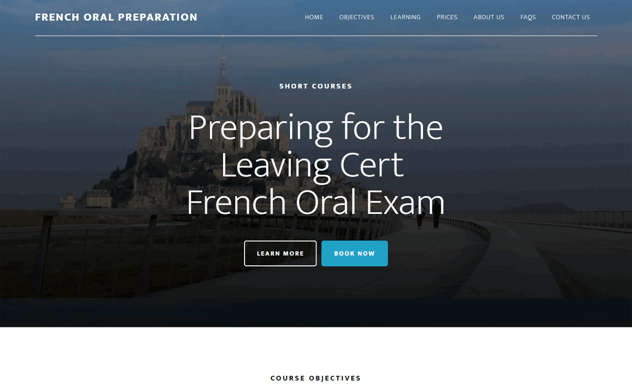 French Oral Prep - Affordable website by Pagecrafted