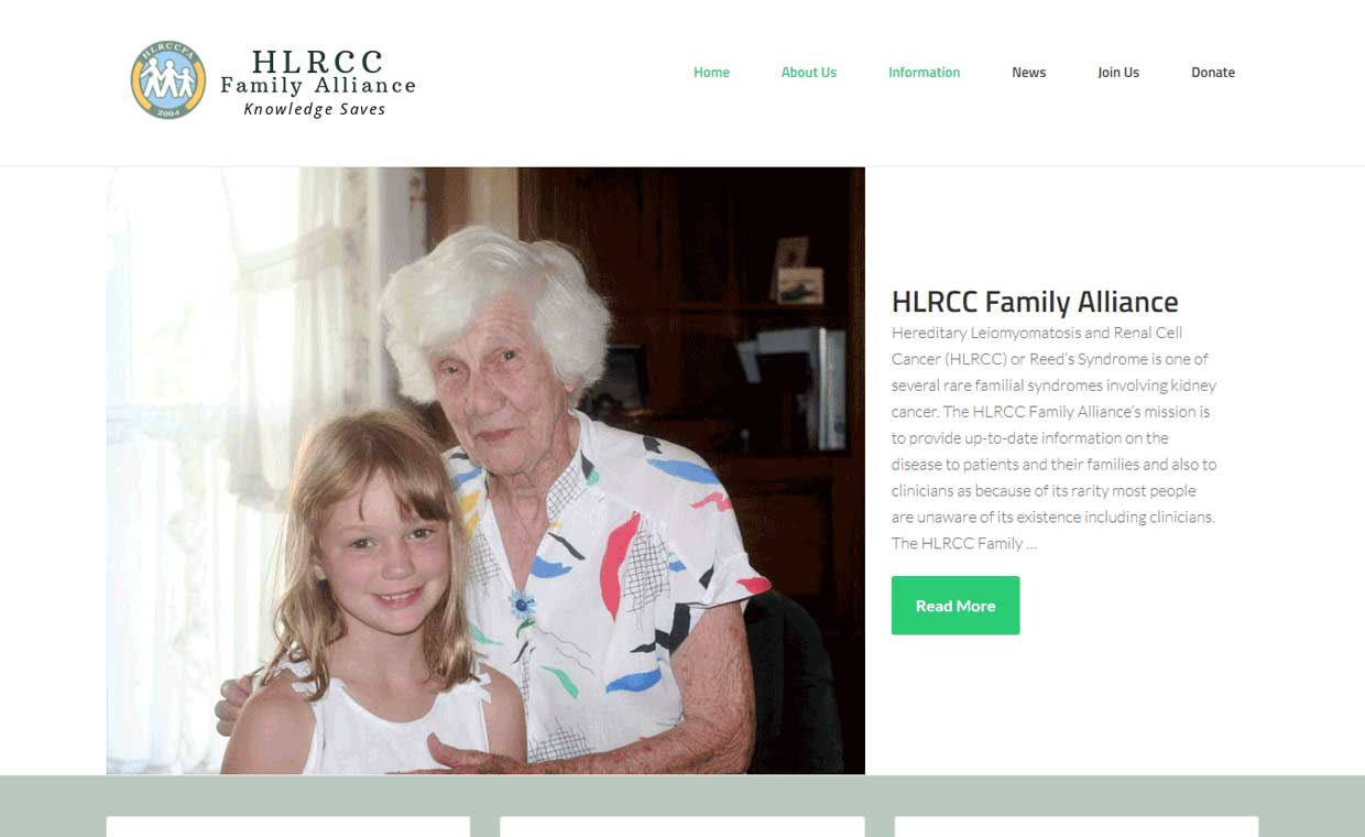 Affordable website upgraded by Pagecrafted - Affordable websites Galway - HLRCC Family Alliance