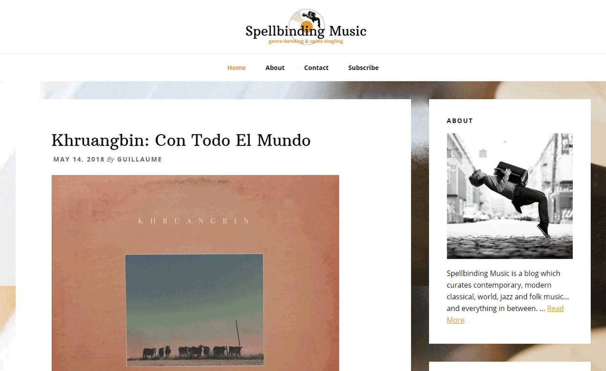 Spellbinding Music Homepage - Designed by Pagecrafted