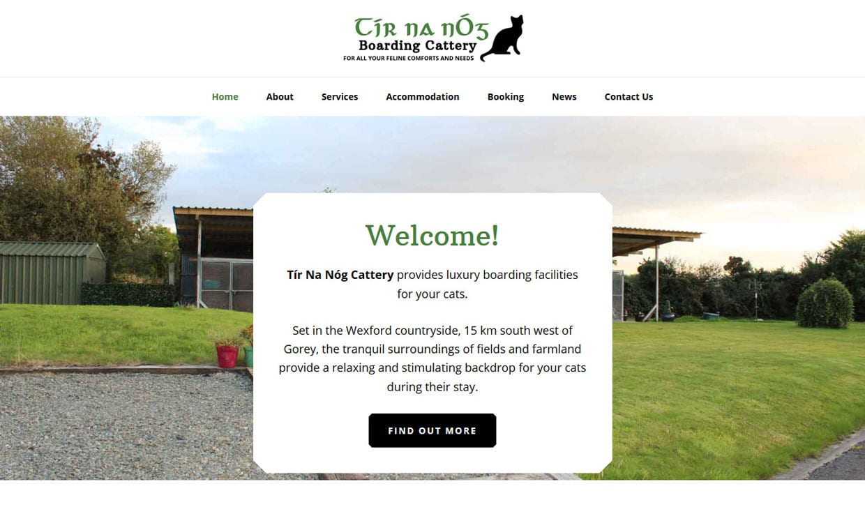 Tir na nOg cattery Homepage - Affordable website designed by Pagecrafted
