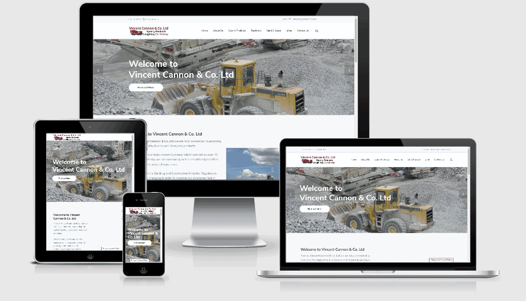Vincent Cannon mobile responsive website designed by Pagecrafted