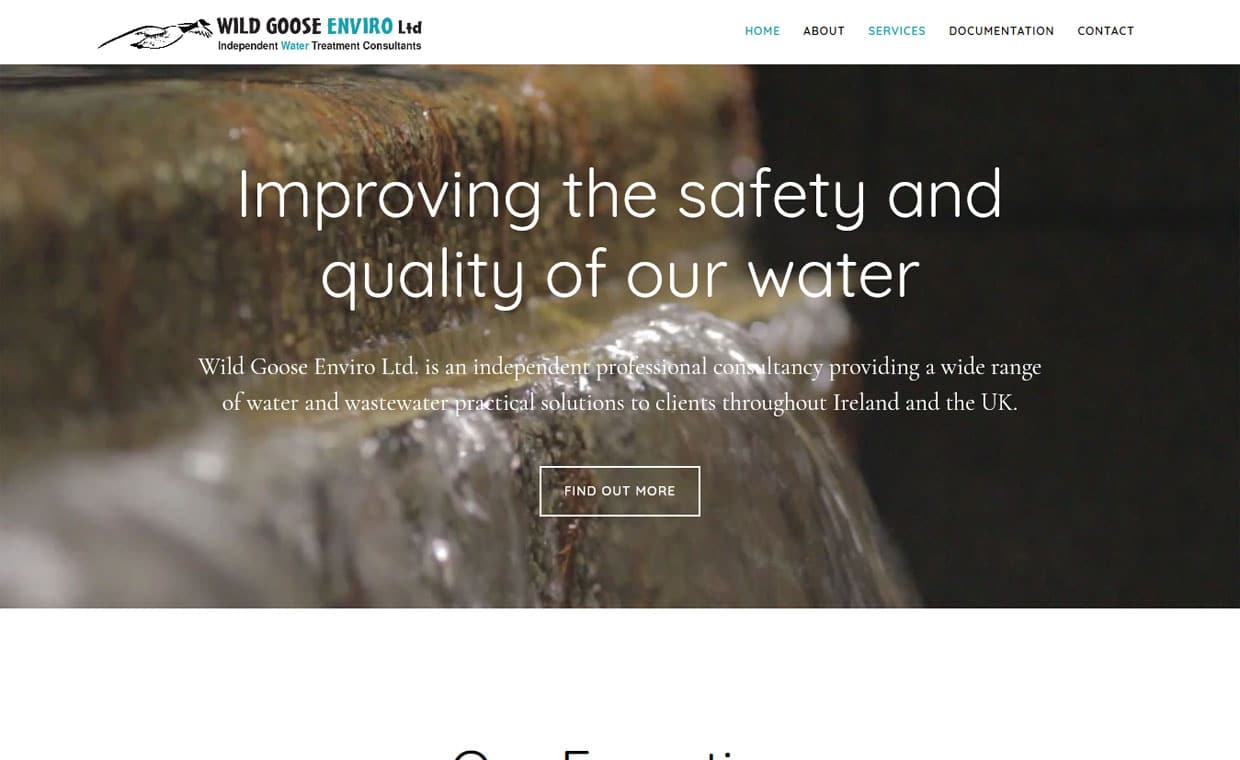 Wild Goose Enviro - Affordable website designed by Pagecrafted