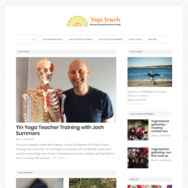 Yoga Jewels - A mobile responsive website designed by Pagecrafted
