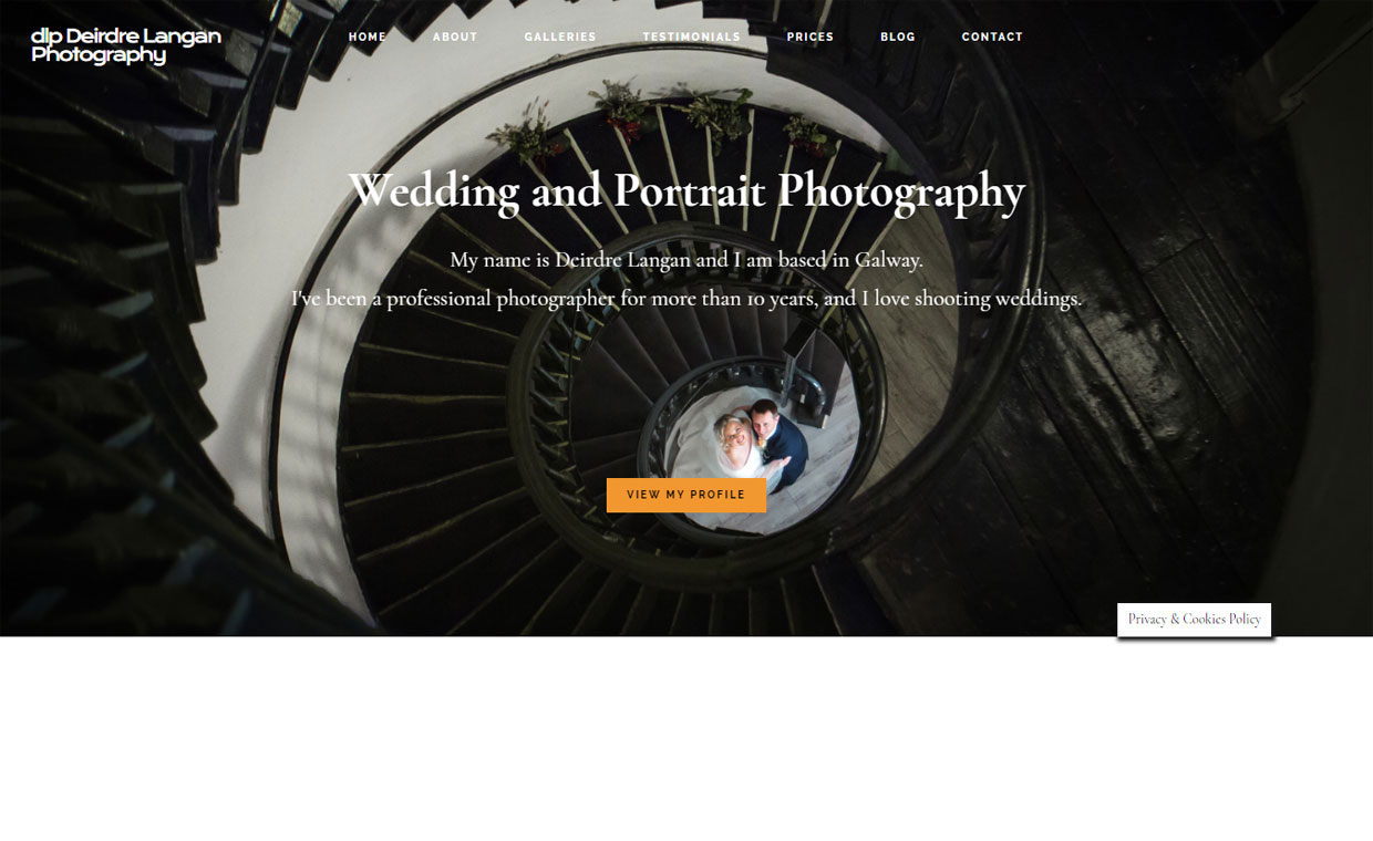 Pagecrafted Affordable websites Galway - Deirdre Langan Photography