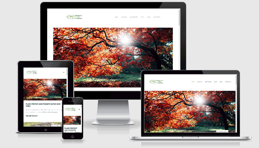 Pagecrafted Affordable websites Galway - Children's Tree Campaign Mobile