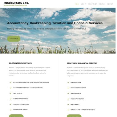 Pagecrafted affordable websites Galway - McKeigue Kelly & Co