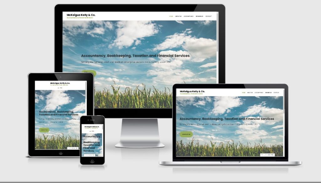 Pagecrafted affordable websites Galway - McKeigue Kelly & Co Mobile